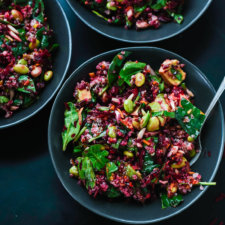 Colorful Beet Salad with Carrot, Quinoa & Spinach